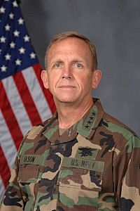 ADM Eric T. Olson (USN ret'd)/USNA original skydiver/Past CO of USSOCOM